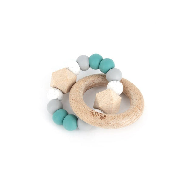 Hexx Teething Rattle : Duck Egg Blue Teether Lluie