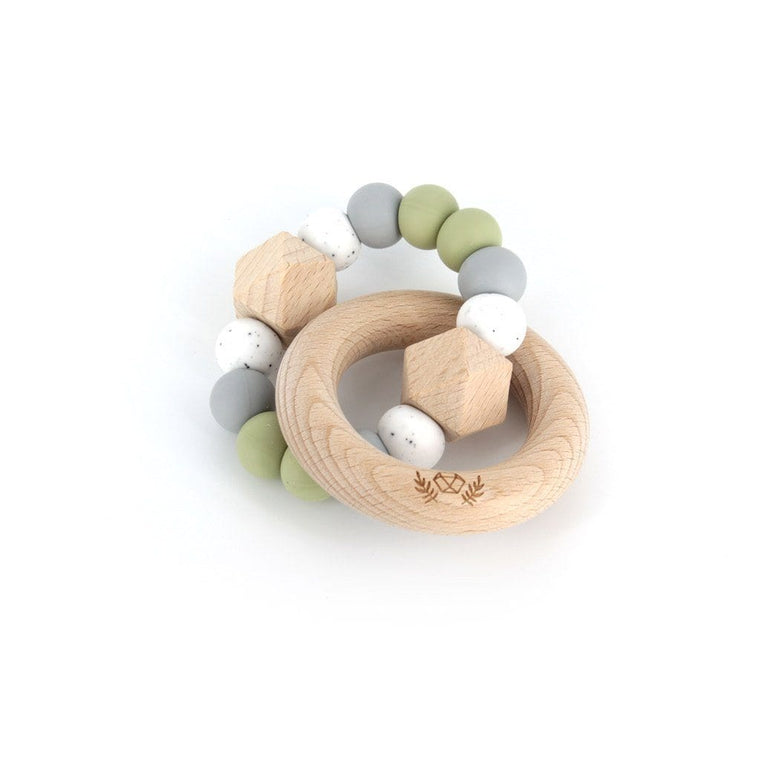 Hexx Teething Rattle : Sage