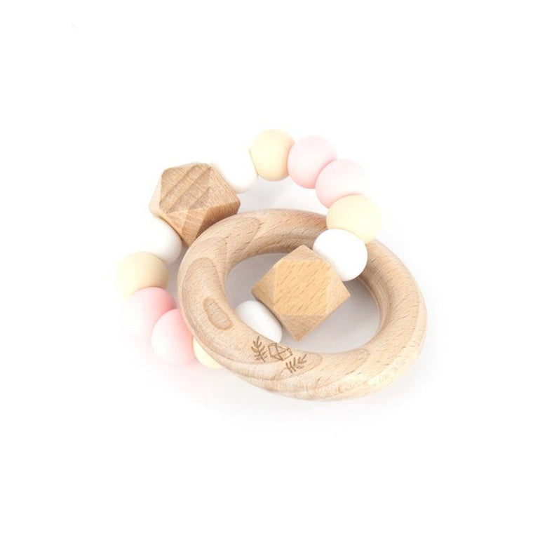 Hexx Teething Rattle : Strawberries & Cream