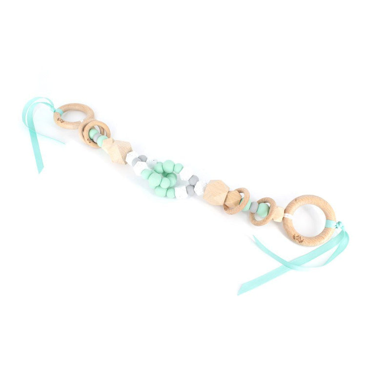 Interlock Teething Pram Garland : Mint