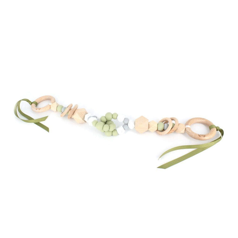 Interlock Teething Pram Garland : Sage