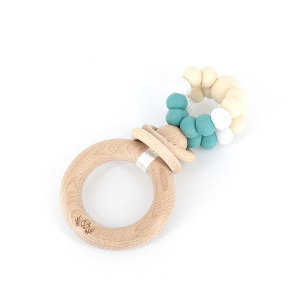 Ring Pop Teething Rattle™ : Duck Egg Blue Teether Lluie