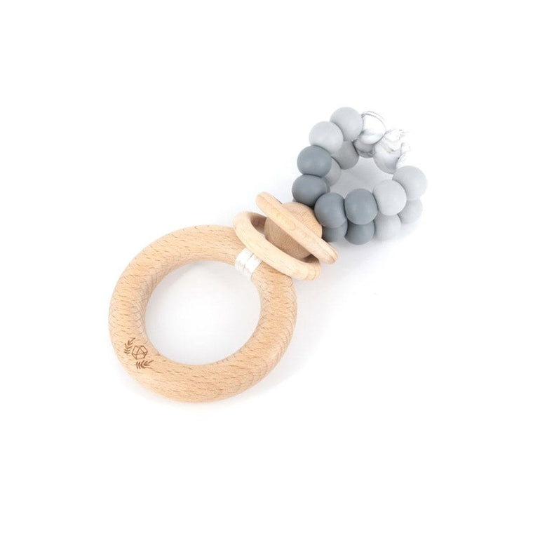 Ring Pop Teething Rattle™ : Grey Ombre