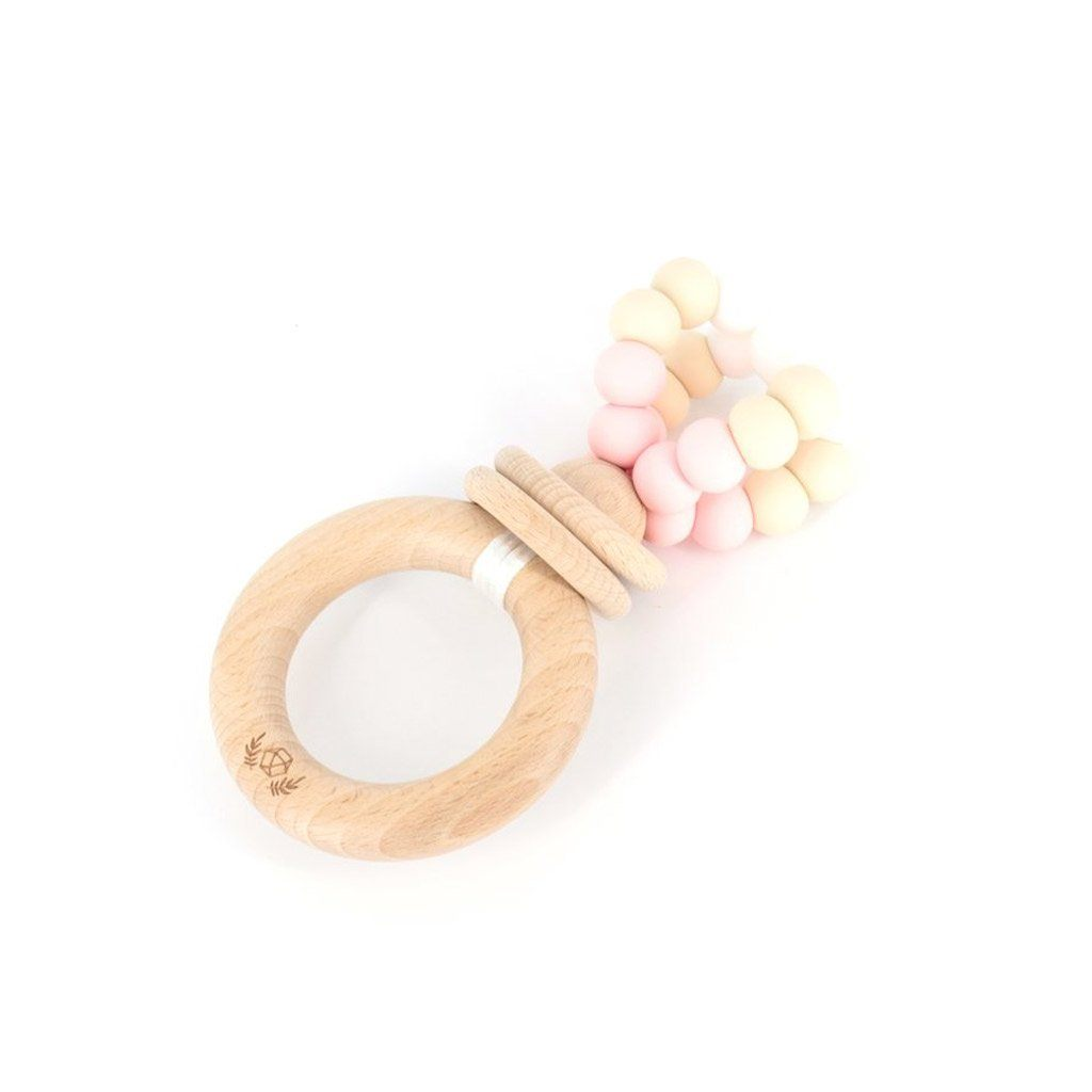 Ring Pop Teething Rattle™ : Strawberries & Cream Teether Lluie