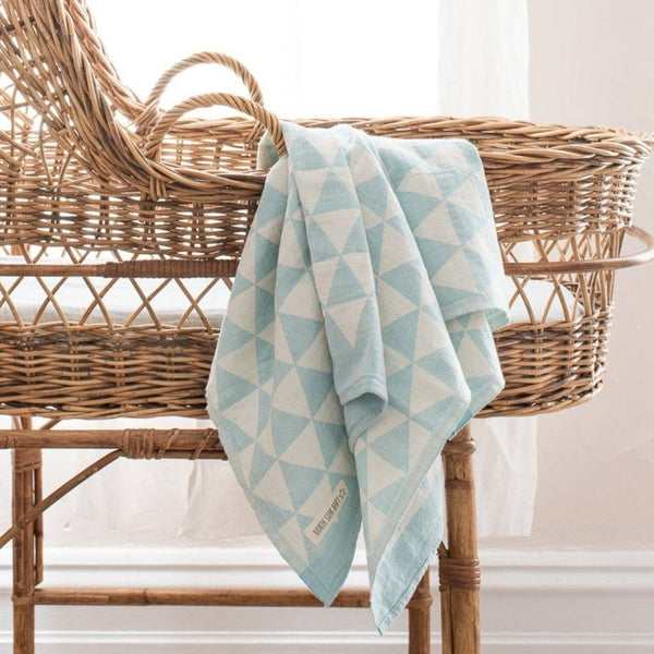 Cotton Bassinet Blanket : Hills Mint Blanket North Star Baby