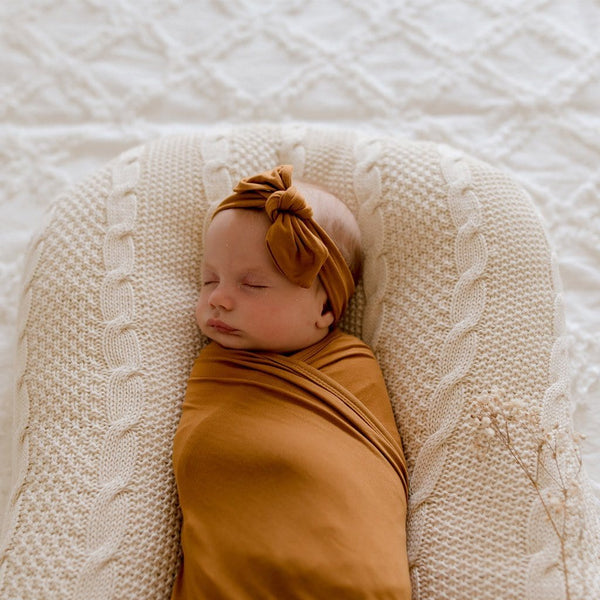 Stretchy TopKnot Headband : Desert Bronze Baby Accessory Luna's Treasures