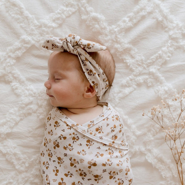 Stretchy TopKnot Headband : Desert Daisy Baby Accessory Luna's Treasures