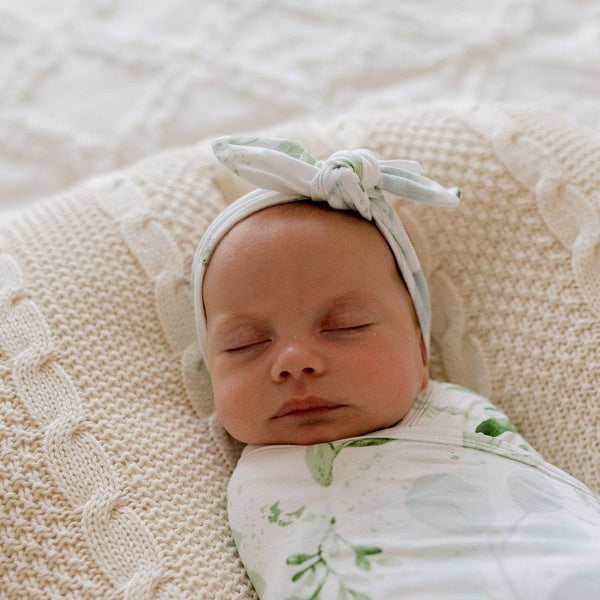 Stretchy TopKnot Headband : Evergreen Baby Accessory Luna's Treasures