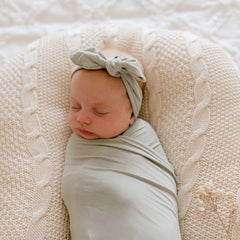 Bamboo Jersey Wrap : Soft Sage Wraps Luna's Treasures