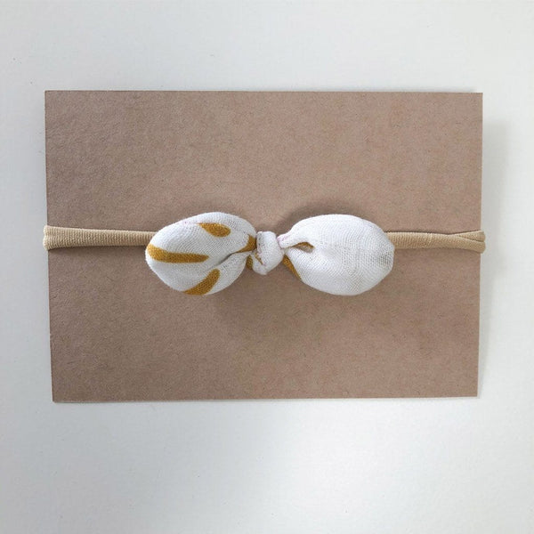 Stretchy Headband with Muslin Bow : Soleil Baby Accessory Luna's Treasures