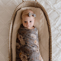 Muslin Bamboo Cotton Wrap : Indigo Blooms Wraps Luna's Treasures
