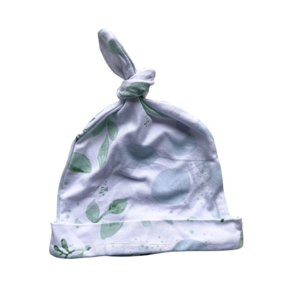 Bamboo Jersey Knotted Beanie : Evergreen Baby Accessory Luna's Treasures