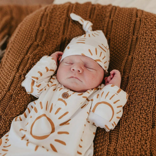 Bamboo Jersey Knotted Beanie : Soleil Baby Accessory Luna's Treasures