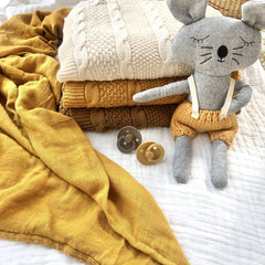 Cable Knit Cotton Blanket : Fudge Blanket Luna's Treasures