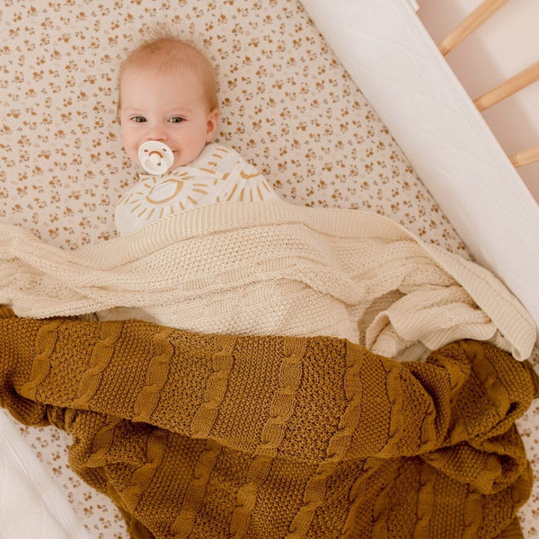 Cable Knit Cotton Blanket : Masala Blanket Luna's Treasures
