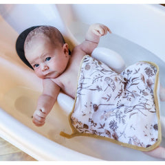 Bamboo Hooded Bath Towel Set : Wild Meadow Neutral Baby Towel Luna's Treasures