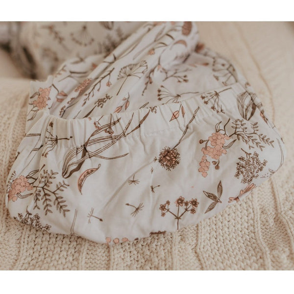 Elastic Hem Newborn Gown : Wild Meadow Pink Luna's Treasures