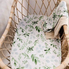 Bamboo Jersey Fitted Bassinet Sheet : Evergreen Sheet Luna's Treasures