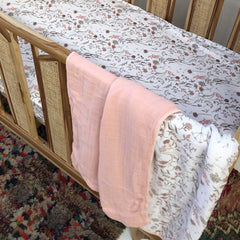 Reversible Muslin Cot Blanket: Wild Meadow Blanket Luna's Treasures