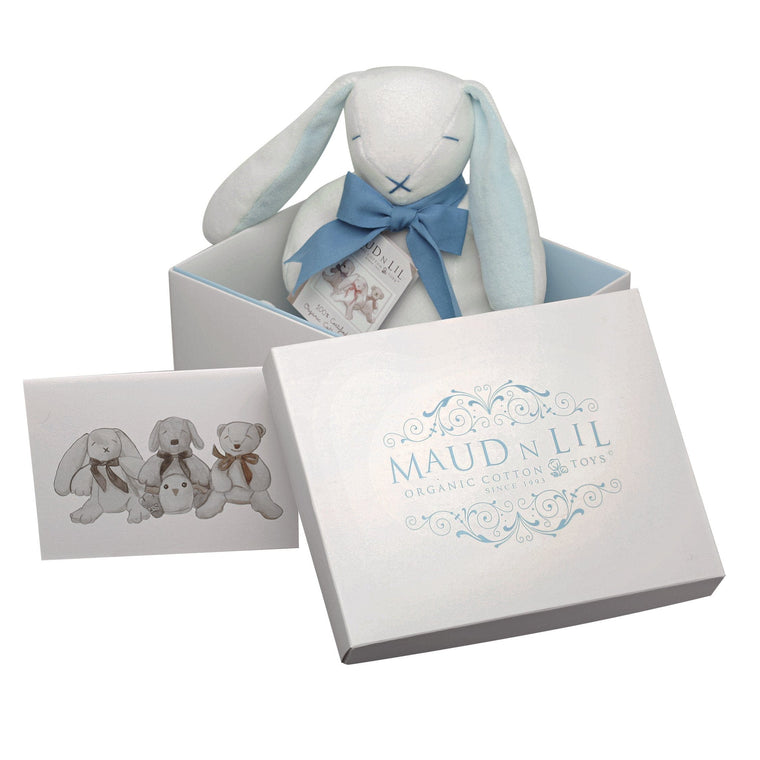 Maud n Lil Organic Cotton Toys - Oscar the Blue Bunny