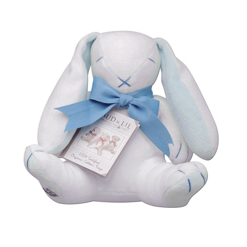 Maud n Lil Organic Cotton Toys - Oscar the Blue Bunny - Ecosprout - New Zealand