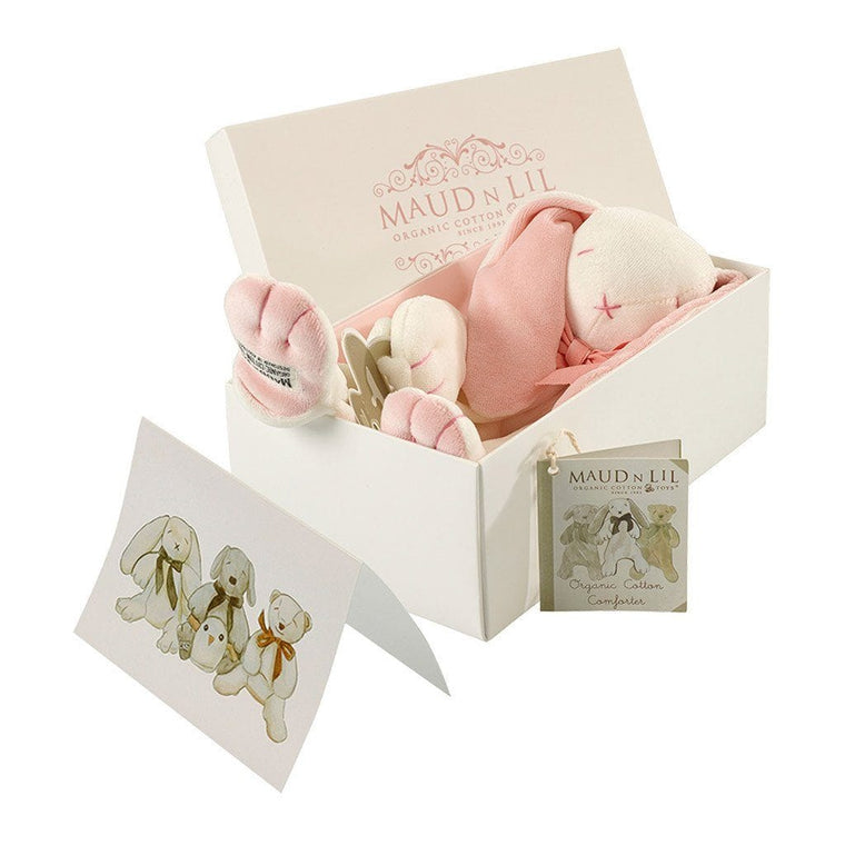 Maud n Lil Organic Cotton Comforter  - Rose the Pink Bunny