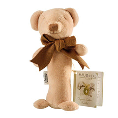 Maud n Lil Organic Cotton Stick Rattle - Cubby the Bear