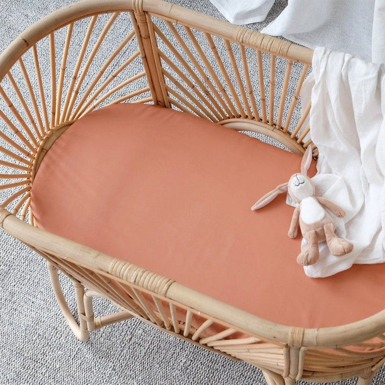 Organic Bamboo Bassinet Fitted Sheet : Nutmeg