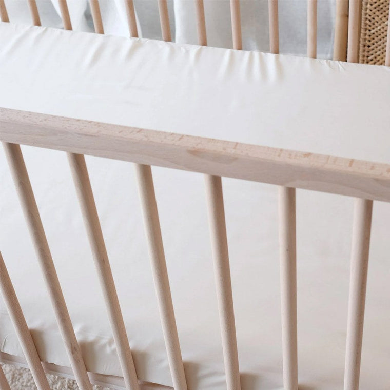 Organic Bamboo Cot Fitted Sheet : Oat