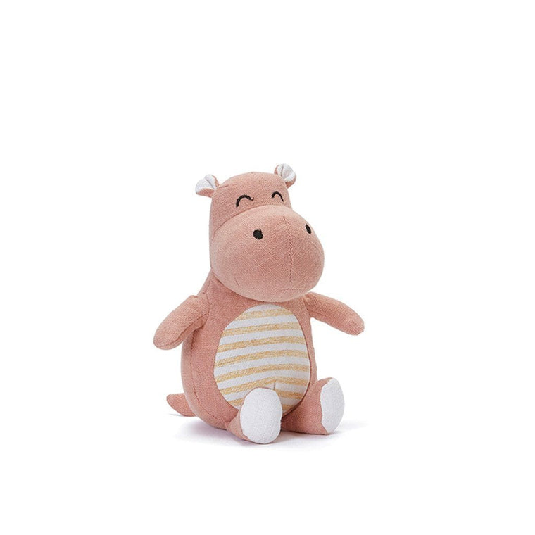 Hannah the Hippo Baby Rattle - Pink