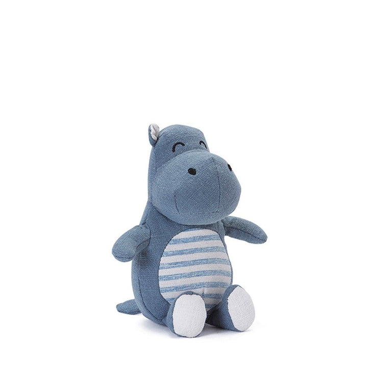 Hugo the Hippo Baby Rattle - Blue