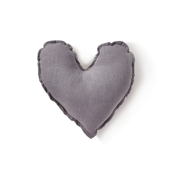 Heart Cushion - Dove Grey 25cm Homewares Nana Huchy