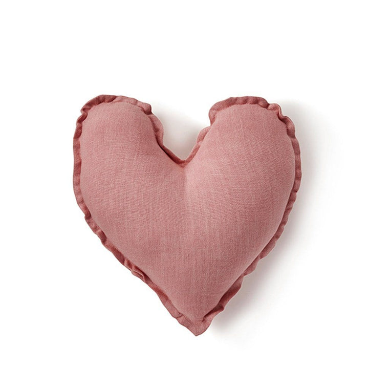 Heart Cushion - Blush Pink 25cm