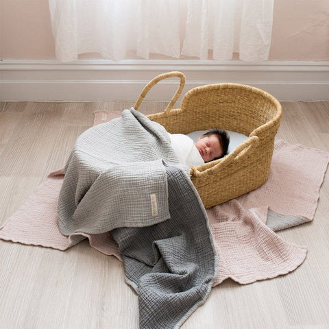 Bebek Muslin Blanket : Grey Blanket North Star Baby