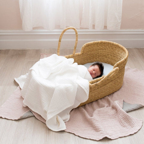 Bebek Muslin Blanket : White Blanket North Star Baby