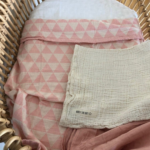 Cotton Bassinet Blanket : Pink Hills Blanket North Star Baby