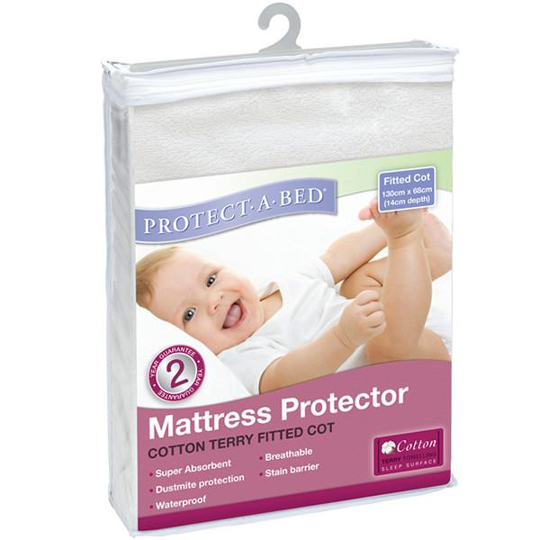 Protect A Bed Cot USA Std Cotton Terry Fitted