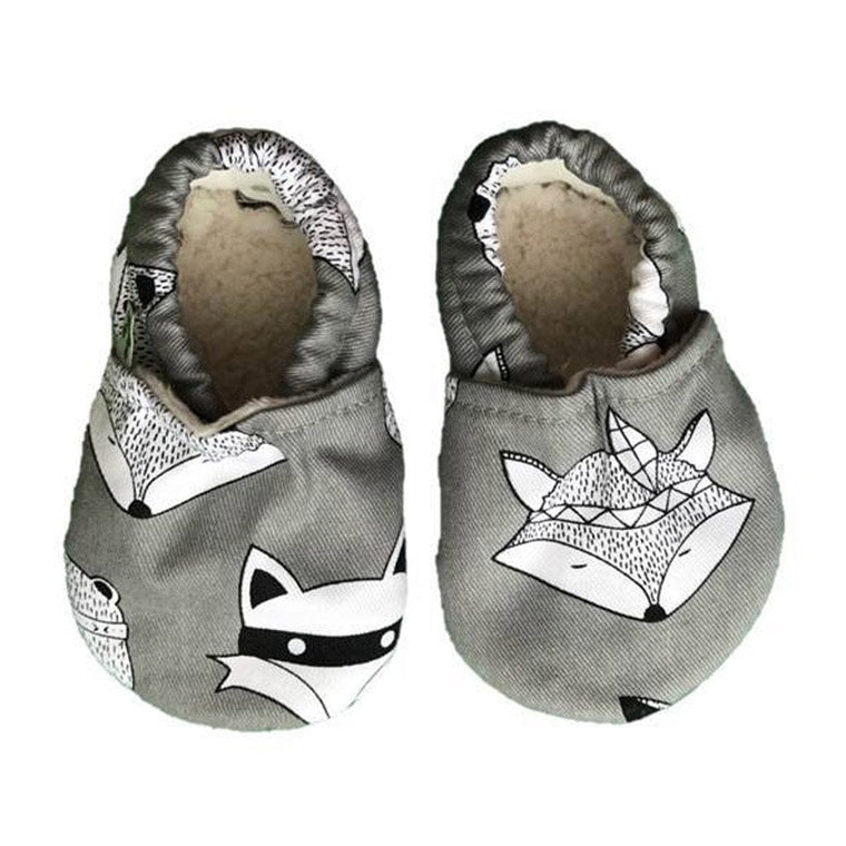 Baby Booties - Grey Fox & Bear
