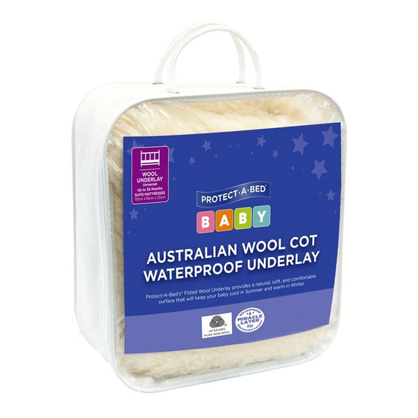Protect-A-Bed® Wool Underlay Cot Protector - Ecosprout - New Zealand