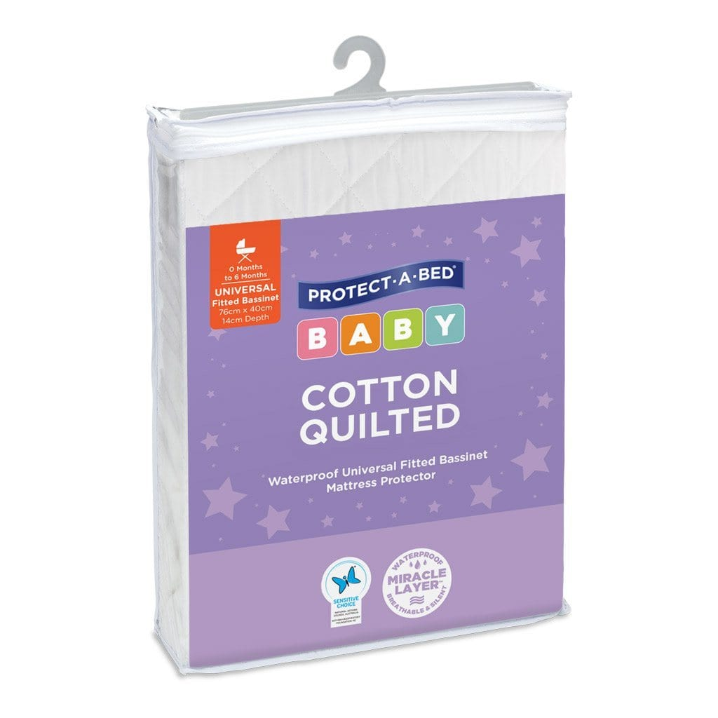 Cotton Quilted Fitted : Change Pad Mattress Protector Protect-A-Bed®