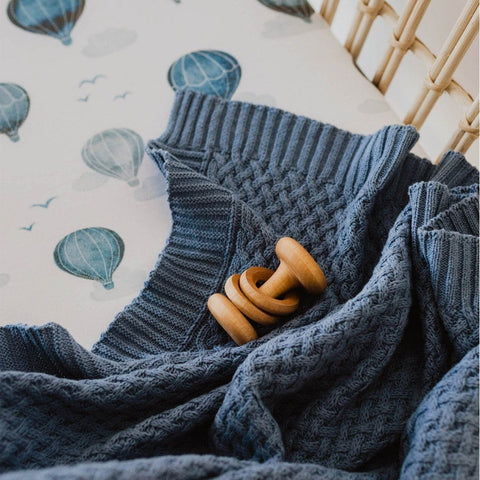 Cotton Diamond Knit Baby Blanket : River Blanket Snuggle Hunny Kids