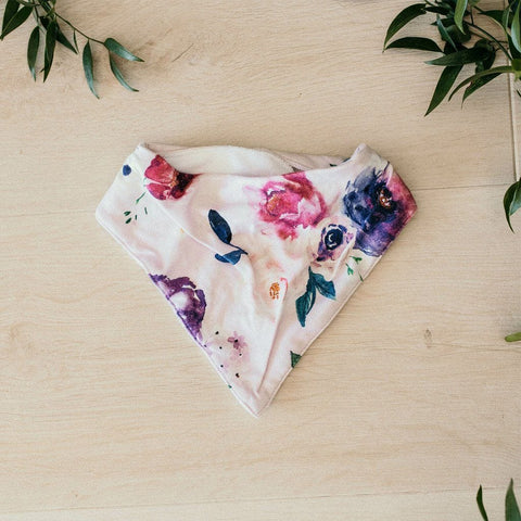 Dribble Bib : Floral Kiss Baby Accessory Snuggle Hunny Kids