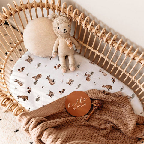 Jersey Fitted Bassinet Sheet : Fox Sheet Snuggle Hunny Kids