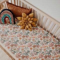 Fitted Cot Sheet : Australiana