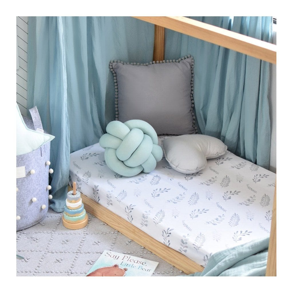 Fitted Cot Sheet : Wild Fern