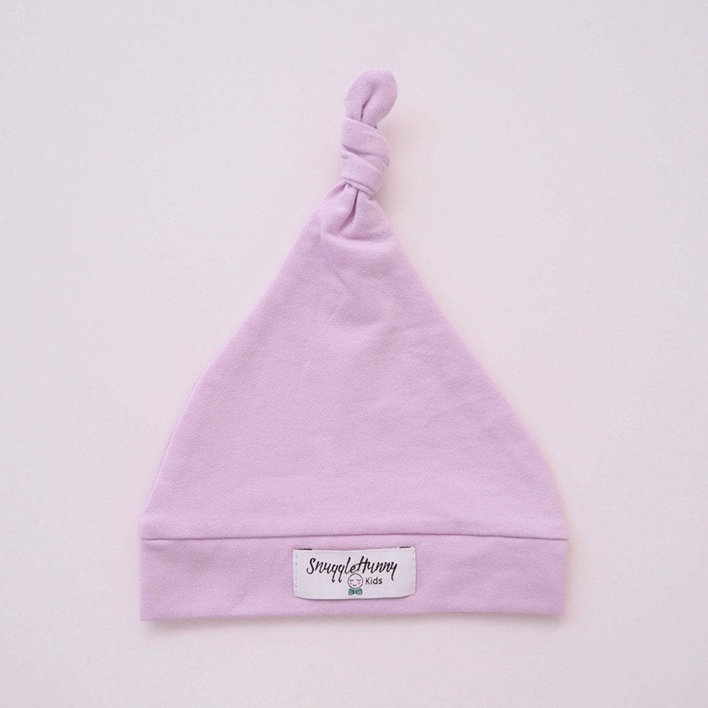 Knotted Beanie : Lilac Baby Accessory Snuggle Hunny Kids