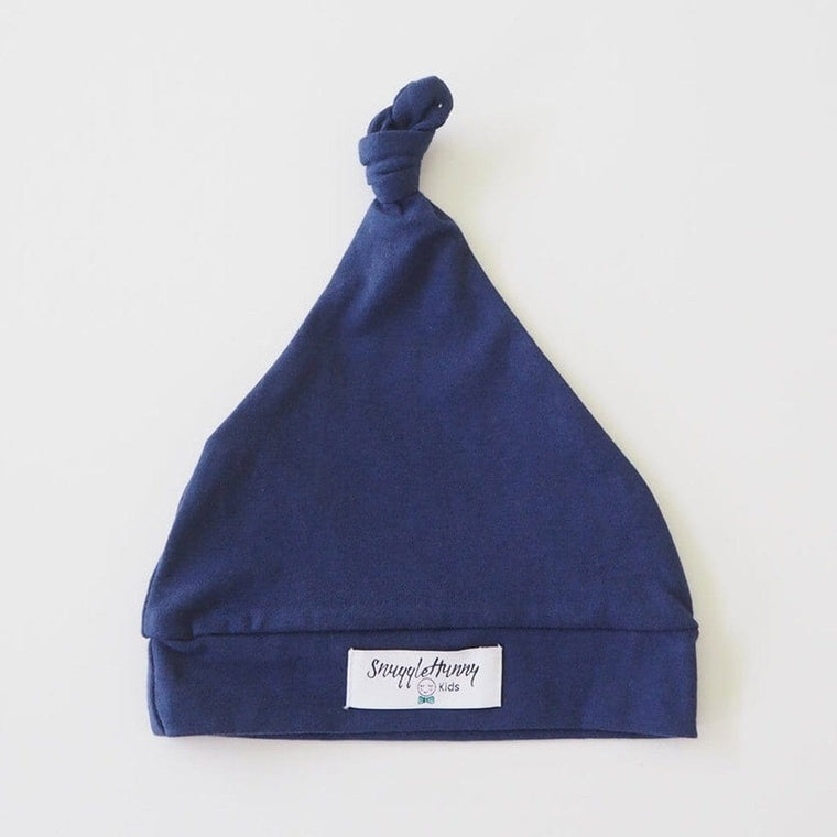 Knotted Beanie : Navy