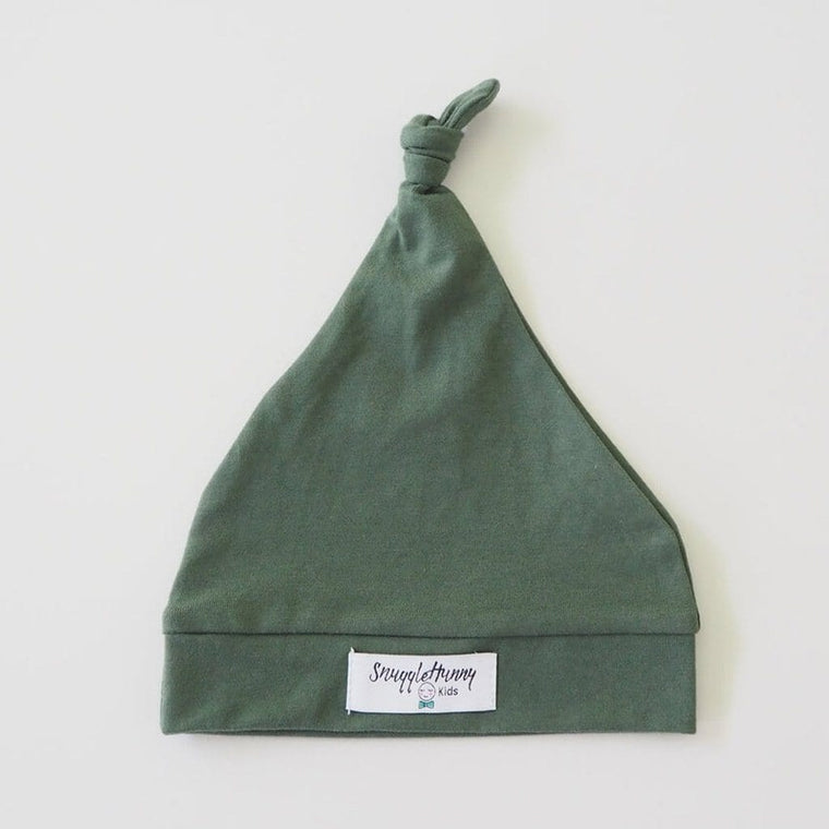 Knotted Beanie : Olive