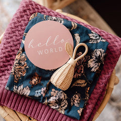 Milestone Cards : Belle & Rose Gold Baby Accessory Snuggle Hunny Kids