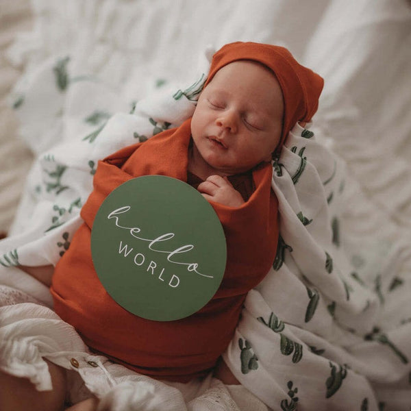 Milestone Cards : Cactus & Leaf Green Baby Accessory Snuggle Hunny Kids